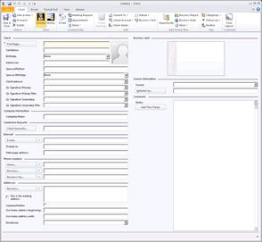 Our Client's Custom Designed Client Details Screen